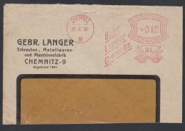 DR Brief Absenderfreistempel AFS  Schrauben Metallwaren Maschinen 1936 Chemnitz Briefstück K1206 - Deutschland