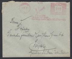 DR Brief Absenderfreistempel AFS  Bekleidung Unterwäsche 1935 Chemnitz Nach Leipzig K1215 - Deutschland