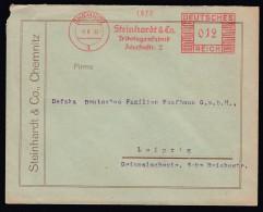 DR Brief Absenderfreistempel AFS  Bekleidung Trikotagen 1935 Chemnitz Nach Leipzig K1216 - Deutschland