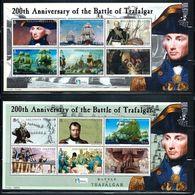 """Solomon Islands      """"Battle Of Trafalgar""""     4  Sheets Of 6     SC#  992-95    MNH    SCV$  42.50 - Solomon Islands (1978-...)"""
