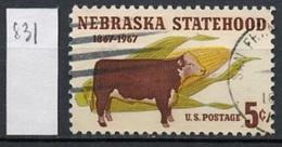 Etats Unis - Vereinigte Staaten - USA 1967 Y&T N°831 - Michel N°926 (o) - 5c Nebraska - Etats-Unis