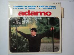 LOT DE TROIS 45 TOURS 4 TITRES ADAMO VOUS PERMETTEZ MONSIEUR / BALLADE A LA PLUIE / DANS LE VERT DE SES YEUX - Other - French Music