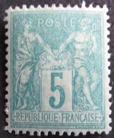 Lot FD/327 - SAGE Type II N°75 NEUF* - BON CENTRAGE - Cote : 40,00 € - 1876-1898 Sage (Type II)
