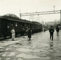Suisse Spiez Le Train Du Lötschberg Ancienne Photo Stereo Amateur Possemiers 1910 - Stereoscopic
