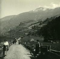 Suisse Val D'Hérens Sasseneire Ancienne Photo Stereo Amateur Possemiers 1910 - Stereoscopic