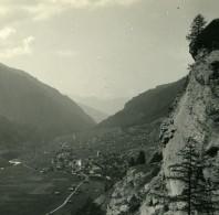 Suisse Val D'Hérens Villa Evolène Ancienne Photo Stereo Amateur Possemiers 1910 - Stereoscopic