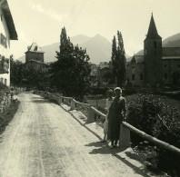Suisse Val D'Anniviers Vissoie Ancienne Photo Stereo Amateur Possemiers 1910 - Photos Stéréoscopiques