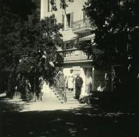 Suisse Hotel D'Anniviers Vissoie Ancienne Photo Stereo Amateur Possemiers 1910 - Stereoscopic