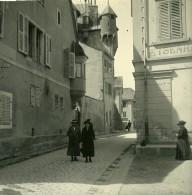 Suisse Sierre Le Chateau Ancienne Photo Stereo Amateur Possemiers 1910 - Stereoscopic