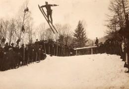 France Chamonix Concours Saut A Ski Spectateurs Hiver Ancienne Photo 1907 - Sports