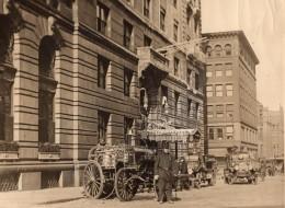 Boston Incendie Hotel Lenox Camions De Pompiers Lot De 4 Photos Anciennes 1917 - Professions