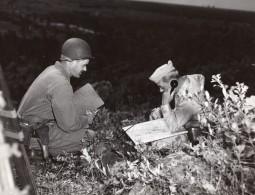 General Edward Sirois Téléphone De Campagne Carte Ancienne Photo Ervil Kennett Vers 1950 - War, Military