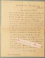L.A.S 1956 Germaine LEFRANCQ - Auteur Dramatique - A M. Tullier BANDOL (Var) - La Pounouche - Lettre Autographe - Autographes