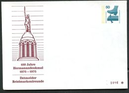 Bund PU65 C2/001 Privat-Umschlag HERMANNSDENKMAL DETMOLD 1975  NGK 4,00 € - Denkmäler