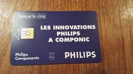 TELECARTE FRANCE 5 UNITES GN7 11/93 SO3 PHILIPS - Francia