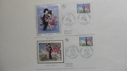 France :FDC : 1 Er Jour : Saint Valentin 1985 : N°2354  : 2  Enveloppes - 1980-1989