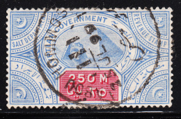 Egypt Used Revenue 250m Salt Department Dated Abou Hommo 25 JL 99 - 1866-1914 Khédivat D'Égypte