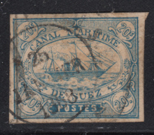 Egypt Suez Canal Company 1868 Used SG #3 20c Sailing Ship Forgery - Égypte