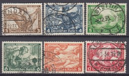 DR 499-504, Gestempelt, Nothilfe: Wagner Opern 1933 - Gebraucht