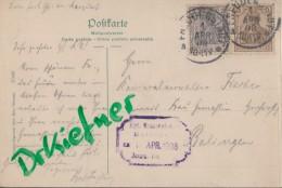 DR 83 I, 84 I MiF Auf AK: Christophstal, Mit Stempel: Freudenstadt 1.APR 1908 - Deutschland