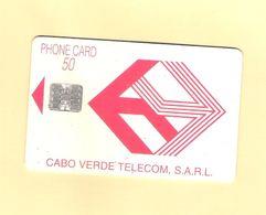 "PHONECARD CHIP CABO VERDE  CV4a ""LOGO/VERMELHO"" C5A1 - 50U -  USED AS ON PHOTO - Portugal"