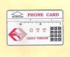 "PHONECARD ÓPTICO CABO VERDE  CV3d ""CTT/TECLAS"" 504C - 100U -  USED AS ON PHOTO - Portugal"