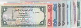YEMEN 1 5 10 20 20 20 50 100 200 RIAL P 15 16B 17 19 23 25 26 28 29 SET LOT9 UNC - Yemen