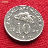 Malaysia 10 Sen 2002 KM# 51  Malasia Malaisie Malaysie - Malaysie