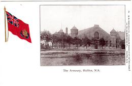 Halifax Nova Scotia Canada - The Armoury - Manège Militaire - Embossed Flag - 2 Scans - Halifax