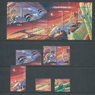 Australia 2000 Space Set Of 6 & Miniature Sheet MNH - 2000-09 Elizabeth II