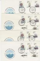 Australian Antarctic Territory 1979 Ships Set 4 Bases FDCs - FDC