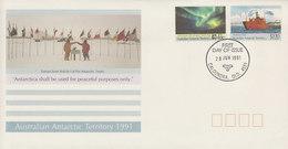 Australian Antarctic Territory 1991 30th Anniversary Treaty FDC - FDC