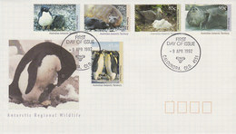 Australian Antarctic Territory 1992 Regional Wildlife FDC - FDC