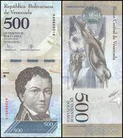 VENEZUELA 500 BOLIVARES 2016 P-NEW UNC + VENEZUELA 1000 BOLIVARES 2017 P-NEW UNC - Venezuela