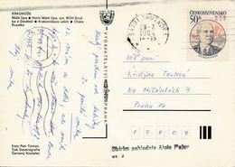 M1142 - Czechoslovakia (1984) 541 01 Trutnov 1; Postcard: Krkonose Mountain; Tariff: 50h (stamp: Ivan Stepanovich Konev) - Famous People