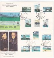 Cocos Islands 1976 Ships Definitives Set 2 FDCs - Cocos (Keeling) Islands