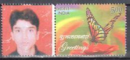 India 2014 - Greetings - Butterflies - Mi.2828 - MNH (**) - Schmetterlinge