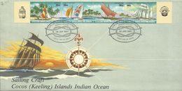 Cocos Islands 1987 Sailing Crafts FDC - Cocos (Keeling) Islands