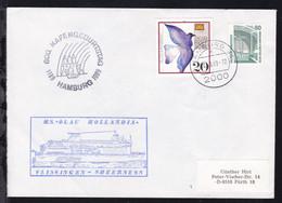 OSt. Hamburg 10.9.89 + Cachet MS Olau Hollandia + Cachet 800. Hafengeburtstag  - Unclassified
