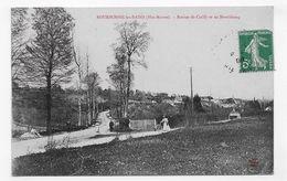 BOURBONNE LES BAINS EN 1908 - ROUTES DE COIFFY ET DE MONTLETANG AVEC PERSONNAGES  - CPA VOYAGEE - Bourbonne Les Bains