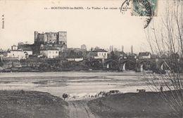 Cp , 42 , MONTROND-les-BAINS , Le Viaduc, Les Ruines DuChâteau - France