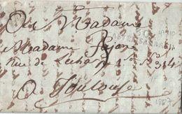 HAUTE GARONNE - 30 CASTEL SARRAZIN - AVEC TEXTE ET SIGNATURE LE 17ème De L'an 1807 - PERIODE EMPIRE ( P1) - Marcophilie (Lettres)