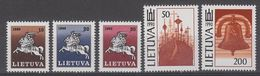 SERIE NEUVE DE LITUANIE - SERIE COURANTE N° Y&T 398 A 402 - Lithuania