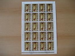 Ungarn 1974, 3 Bögen Aktgemälde, Mi. Nr. 2969A, 2970A, 2971A Gestempelt - Feuilles Complètes Et Multiples