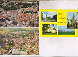 3 CPM DPT 77 BRIE COMTE ROBERT - Brie Comte Robert