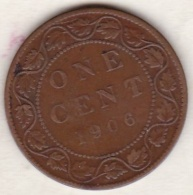 Canada . 1 Cent 1906  . Edward VI . Cuivre - Canada