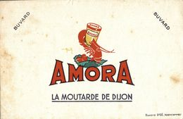 BUVARD  MOUTARDE AMORA - Moutardes