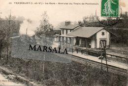 CPA  Tremblay  La Gare  Arrivée Du Train De Pontorson - Altri Comuni