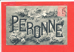 80 PERONNE Cpa Multivues Souvenir     Edit Souillard - Peronne