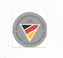 Autocollant , AVIATION & ESPACE , German Aerospace Industries ,  BDLI - Aufkleber